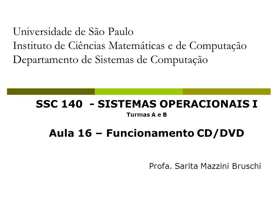 2 Óptico CD Introduzido em 1983 Sistema de áudio digital de disco compacto CD-ROM Compact Disk Read Only Memory Mesma tecnologia do CD de áudio Possui dispositivo de leitura mais resistente e mecanismo de correção de erro para assegurar que os dados sejam transferidos corretamente
