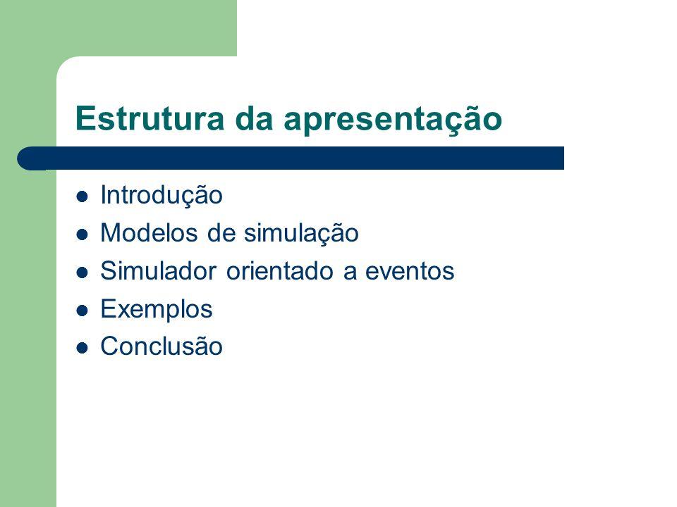 Introdução Atualmente, a simulação tem um papel decisivo no projeto, análise e implementação de qualquer sistema, principalmente quando estes sistemas são caros e complexos.