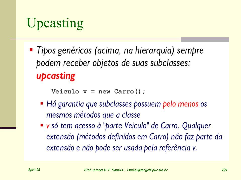 April 05 Prof. Ismael H. F. Santos - ismael@tecgraf.puc-rio.br 229 Upcasting