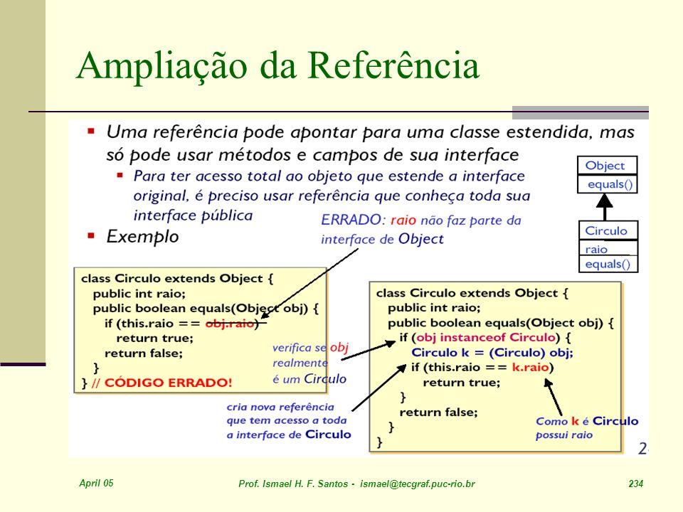 April 05 Prof. Ismael H. F. Santos - ismael@tecgraf.puc-rio.br 234 Ampliação da Referência
