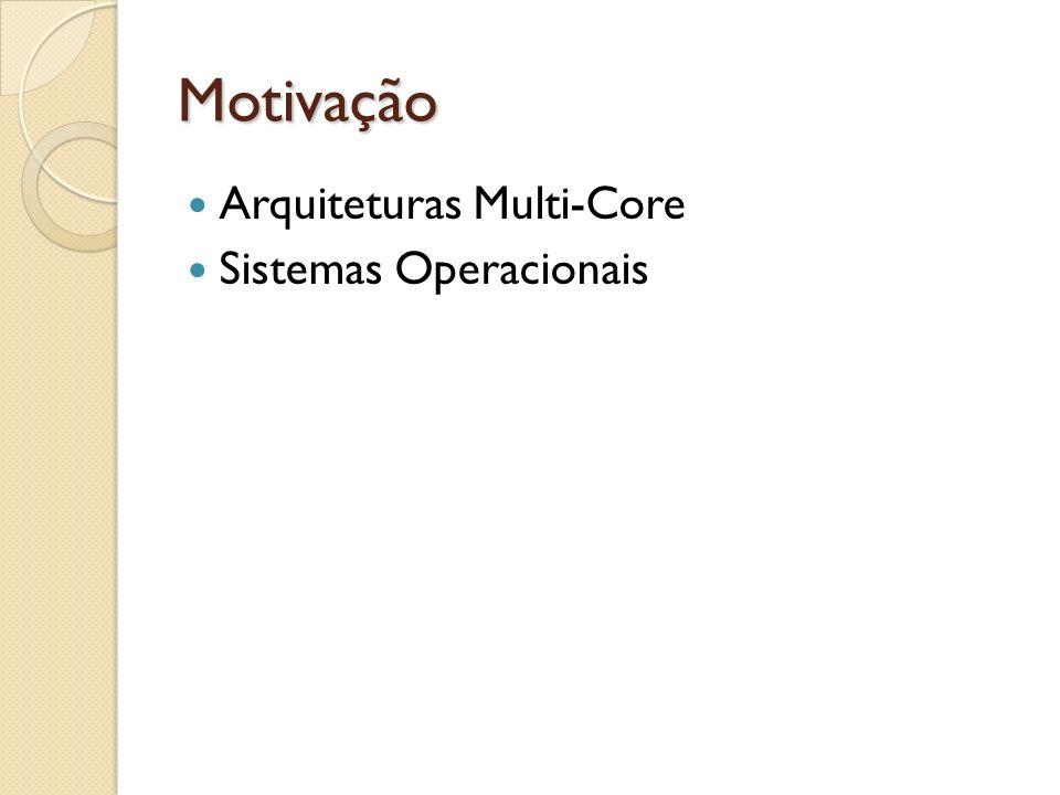 Motivação Arquiteturas Multi-Core Sistemas Operacionais
