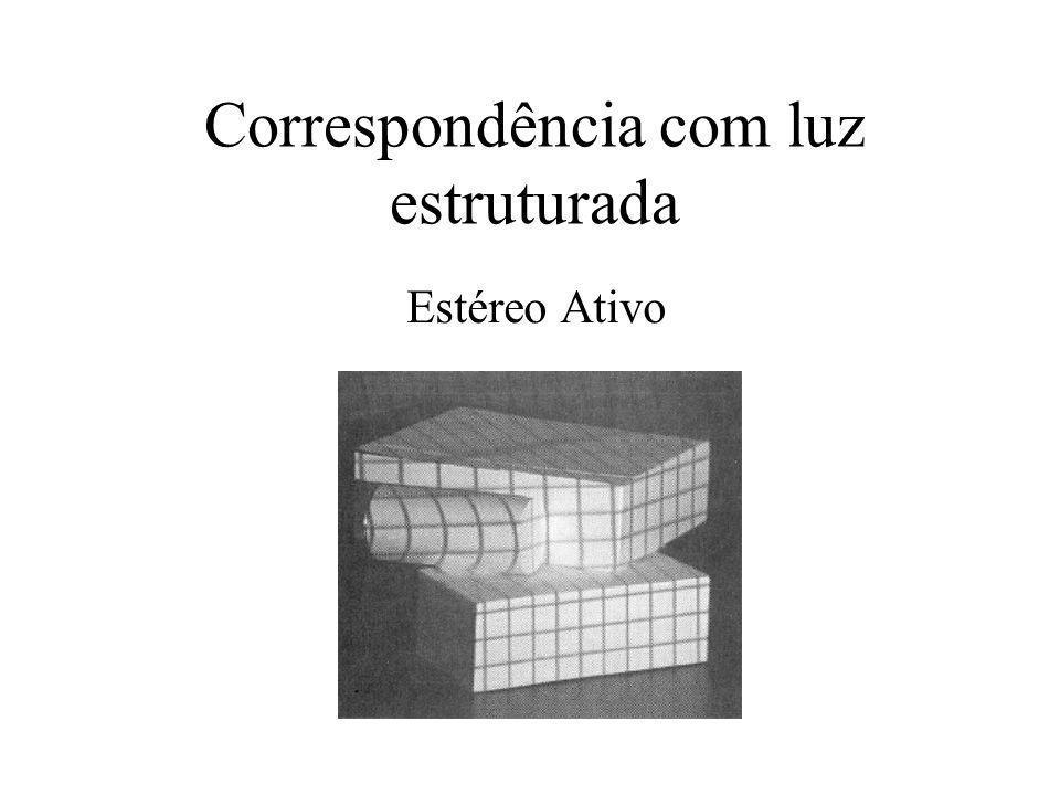 Correspondência com luz estruturada Estéreo Ativo
