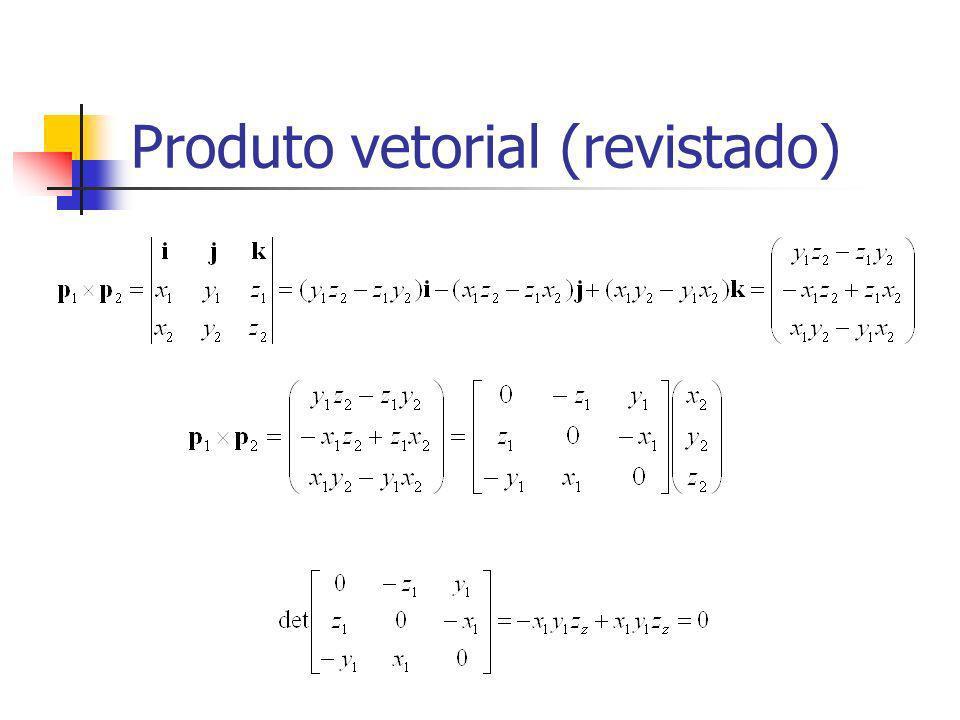 Produto vetorial (revistado)