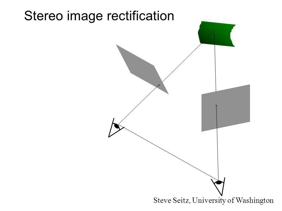 Stereo image rectification Steve Seitz, University of Washington