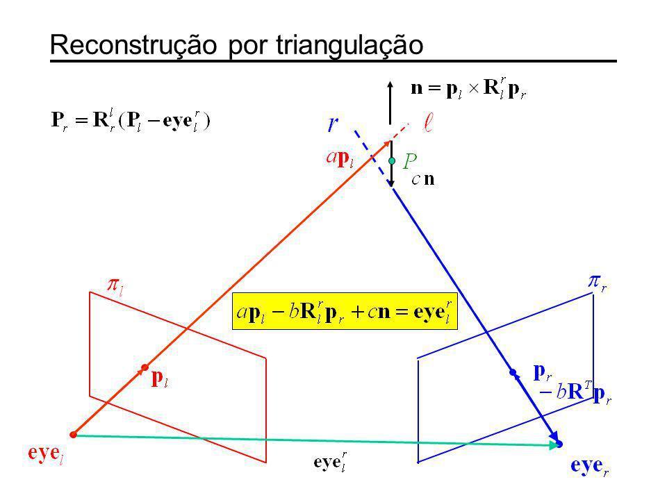Reconstrução por triangulação