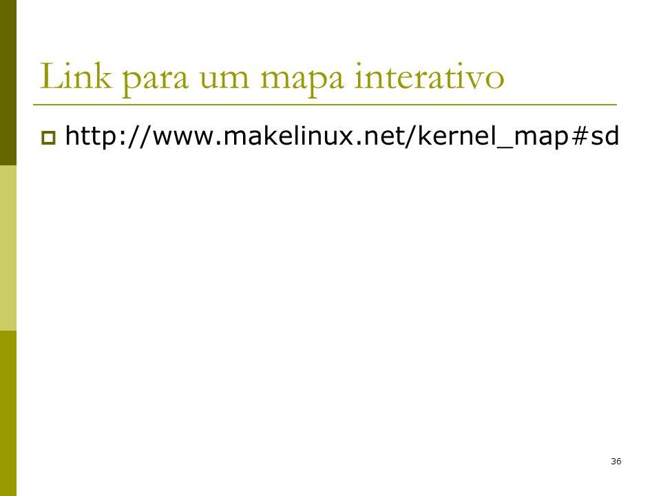 36 Link para um mapa interativo http://www.makelinux.net/kernel_map#sd