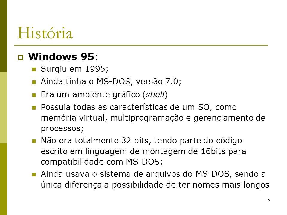 27 Estrutura do Win2000 Win32 API O Win32 API permite que programas rodem na maioria das versões do Windows
