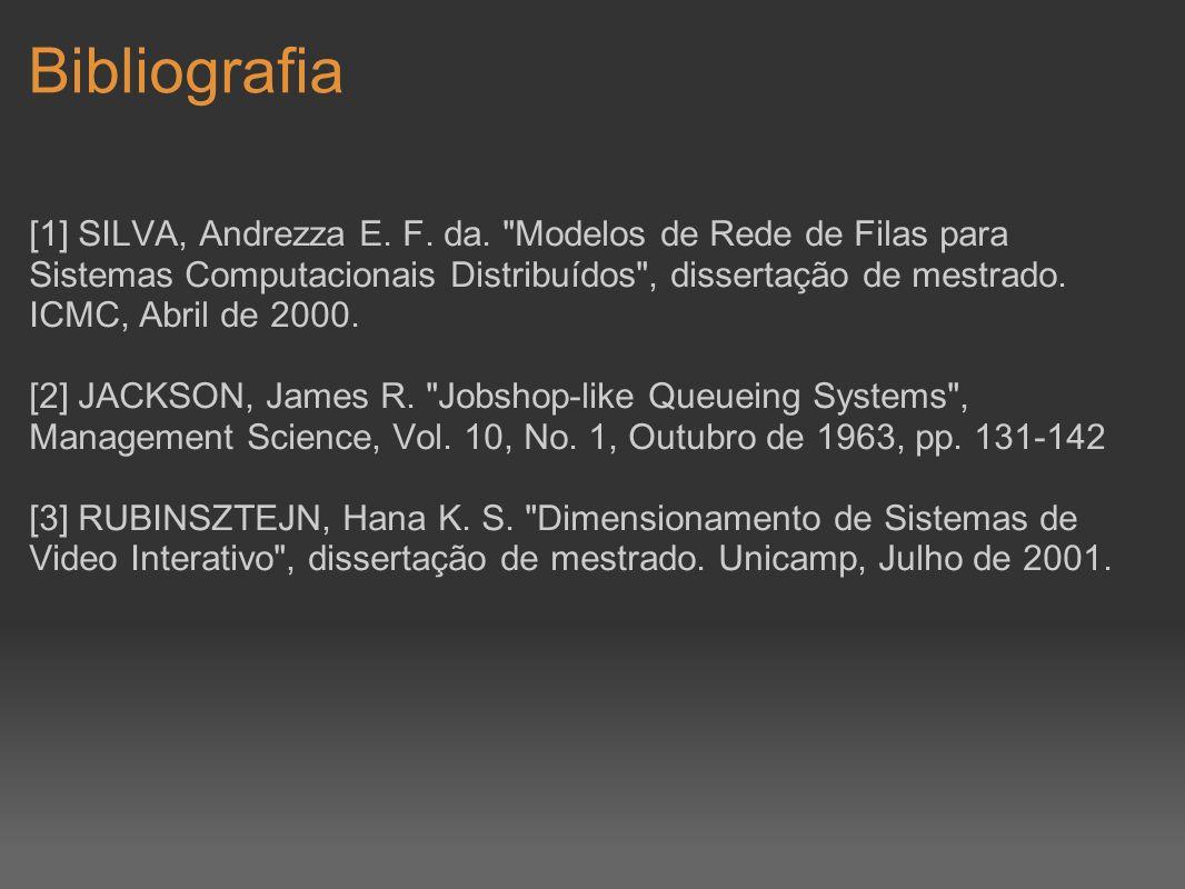 Bibliografia [1] SILVA, Andrezza E. F. da.