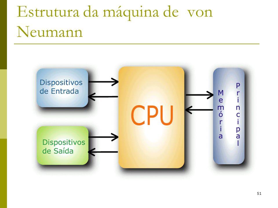 51 Estrutura da máquina de von Neumann
