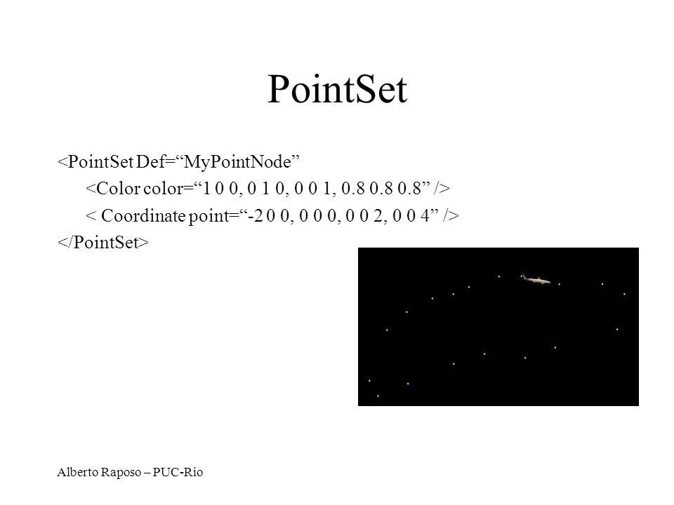 Alberto Raposo – PUC-Rio PointSet <PointSet Def=MyPointNode