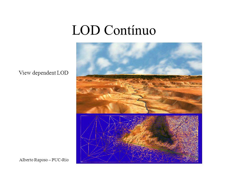 Alberto Raposo – PUC-Rio LOD Contínuo View dependent LOD