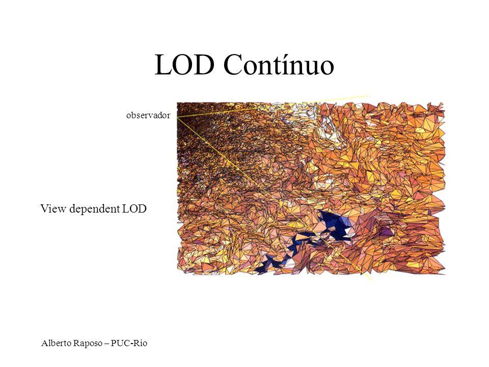 Alberto Raposo – PUC-Rio LOD Contínuo View dependent LOD observador