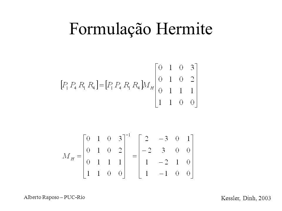 Alberto Raposo – PUC-Rio Formulação Hermite Kessler, Dinh, 2003