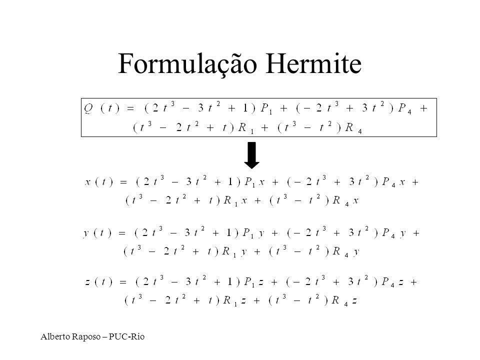 Alberto Raposo – PUC-Rio Formulação Hermite