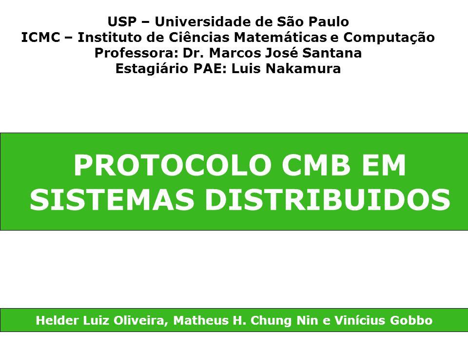 PROTOCOLO CMB EM SISTEMAS DISTRIBUIDOS Helder Luiz Oliveira, Matheus H. Chung Nin e Vinícius Gobbo USP – Universidade de São Paulo ICMC – Instituto de