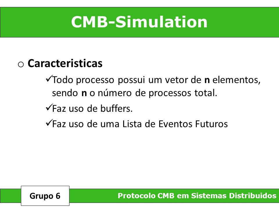 CMB-Simulation Protocolo CMB em Sistemas Distribuidos Grupo 6 o Caracteristicas Todo processo possui um vetor de n elementos, sendo n o número de proc