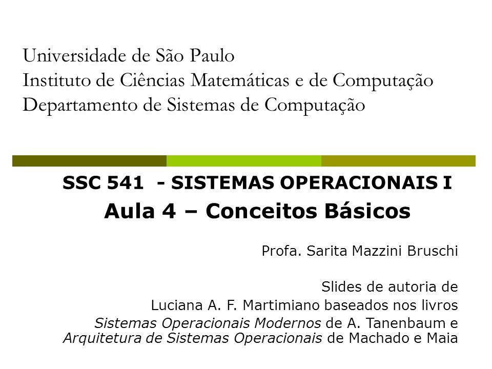 12 Interfaces de um Sistema Operacional Usuário – SO: Shell ou Interpretador de comandos Programas – SO: Chamadas ao Sistema