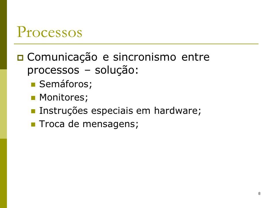 19 Conceitos Básicos Chamadas ao Sistema Exemplos de chamadas da interface: Chamadas para gerenciamento de processos: Fork (CreateProcess – WIN32) – cria um processo; Outros exemplos no Posix (Portable Operating System Interface)