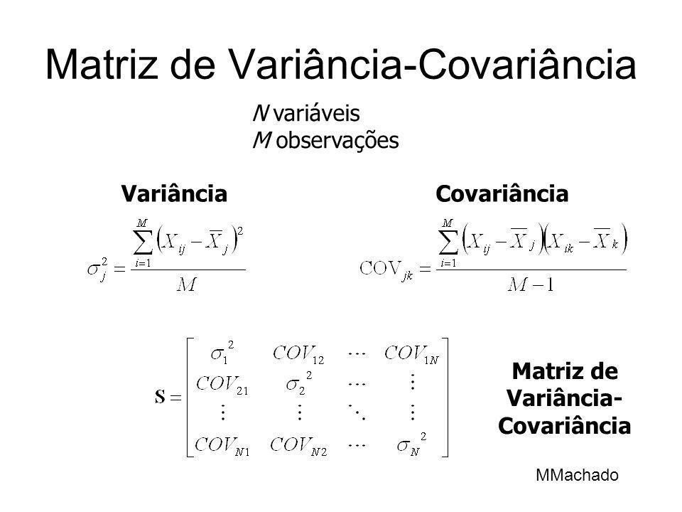 Matriz de Variância-Covariância N variáveis M observações VariânciaCovariância MMachado