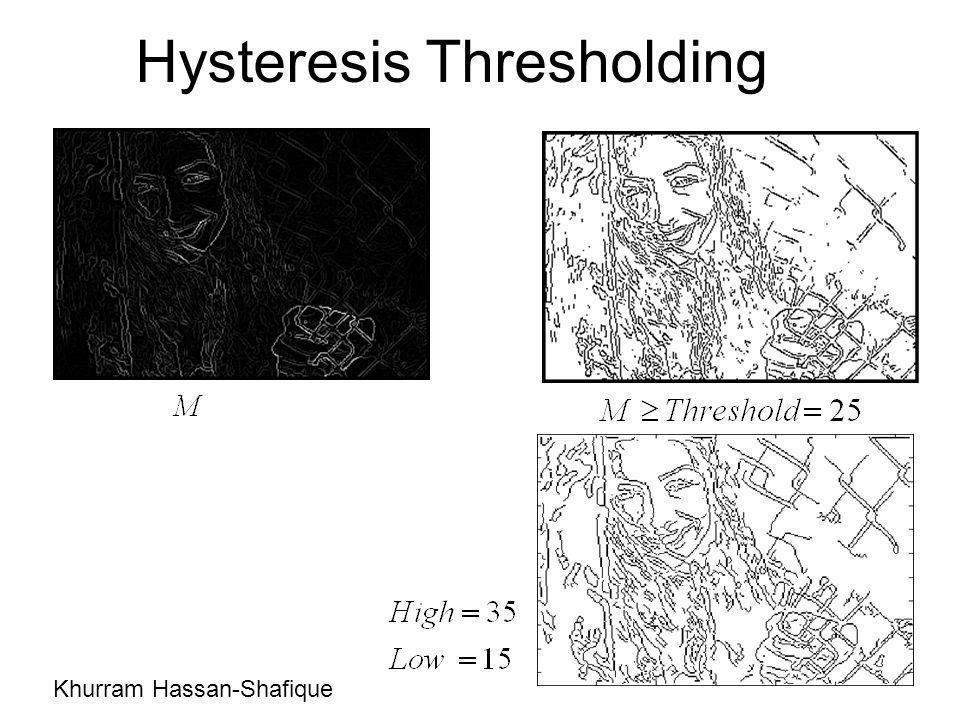 Hysteresis Thresholding Khurram Hassan-Shafique
