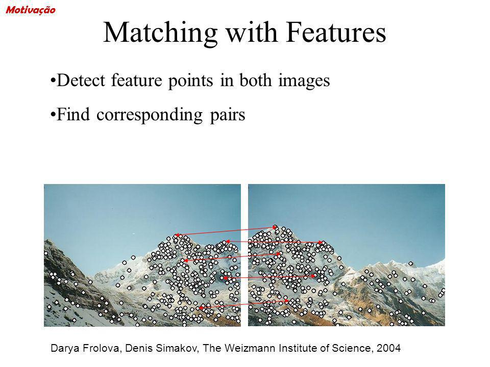 Matching with Features Detect feature points in both images Find corresponding pairs Darya Frolova, Denis Simakov, The Weizmann Institute of Science,