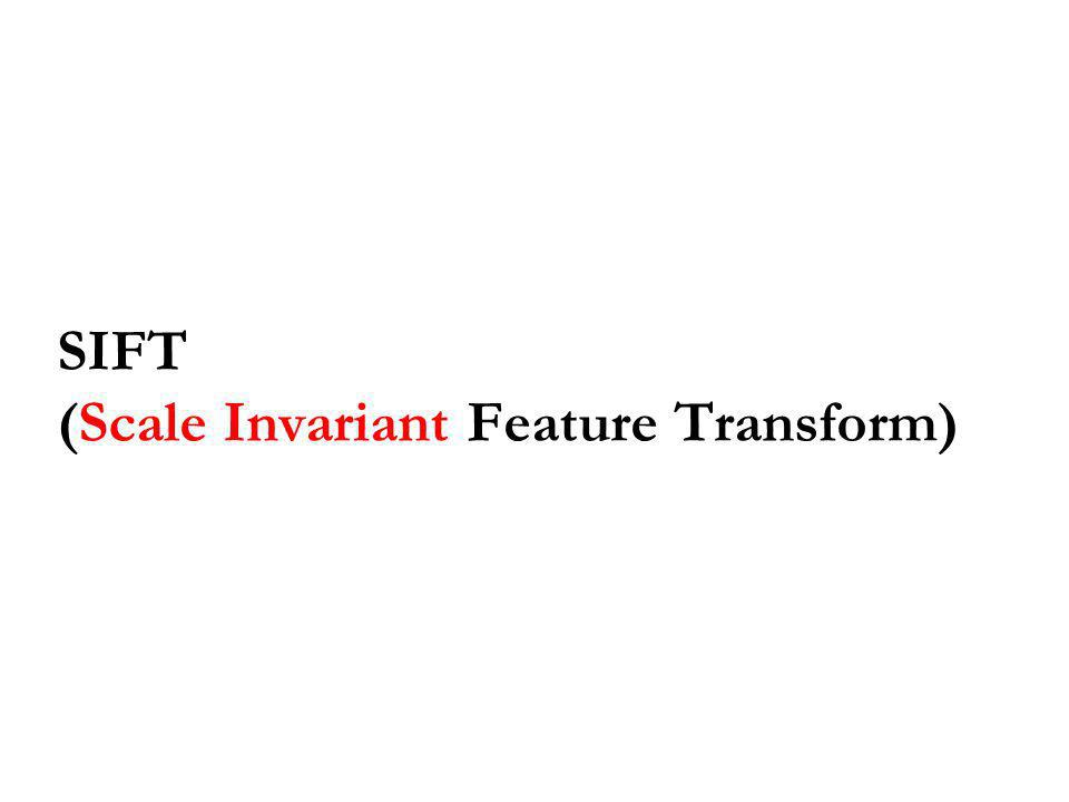 SIFT (Scale Invariant Feature Transform)