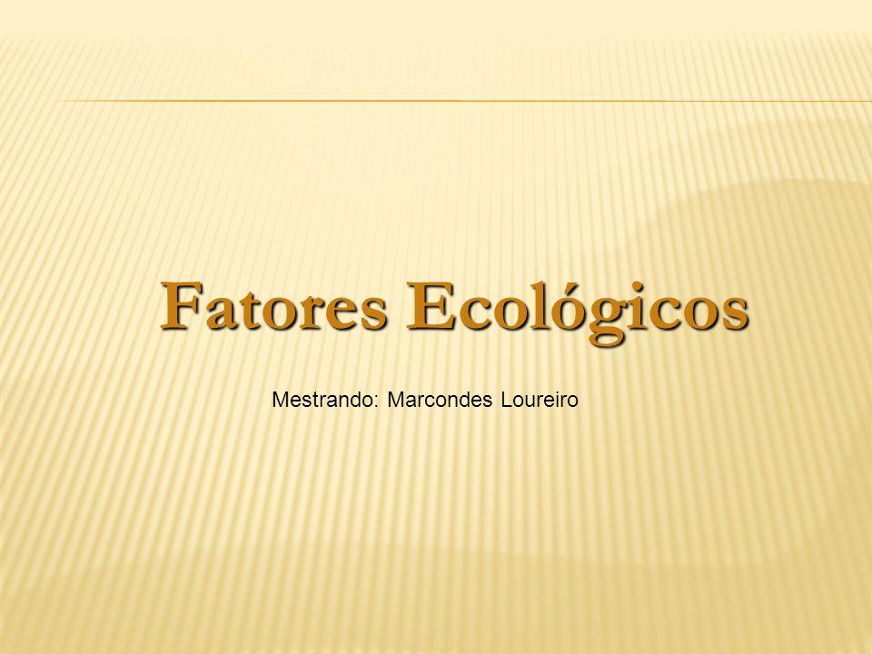 Fatores Ecológicos Mestrando: Marcondes Loureiro