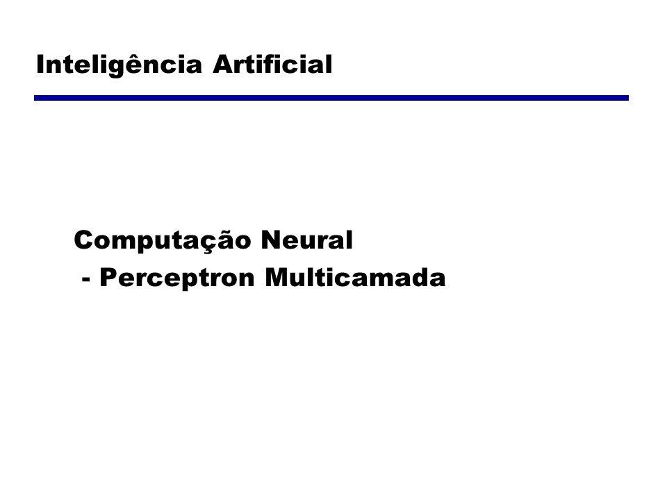 Inteligência Artificial Computação Neural - Perceptron Multicamada