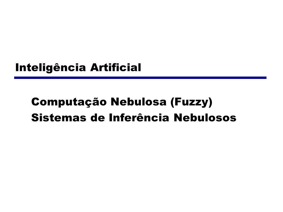 Variáveis Lingüísticas As variáveis utilizadas em sistemas nebulosos são lingüísticas, ou seja, podem assumir valores lingüísticos e não numéricos.