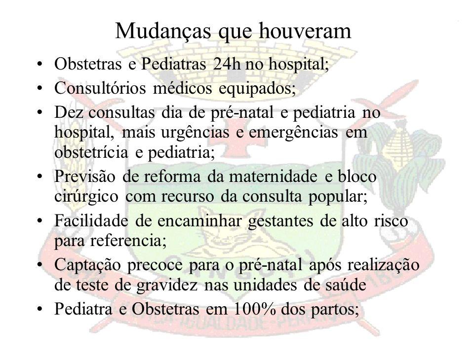 Objetivo: Diminuir a mortalidade infantil; Qualificar e humanizar o atendimento; Aumentar as consultas de Pré-Natal; Conhecer a realidade do Município