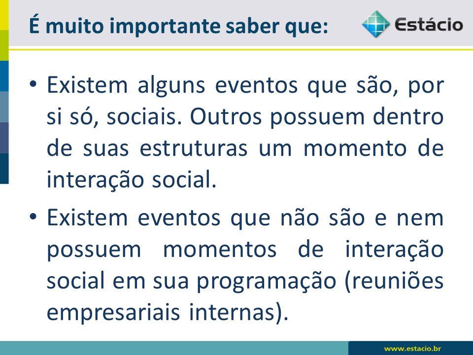 Existem alguns eventos que são, por si só, sociais.