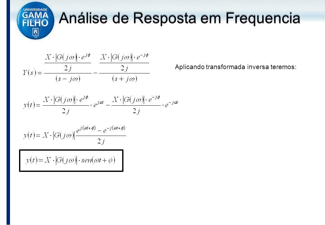 Análise de Resposta em Frequencia Aplicando transformada inversa teremos:
