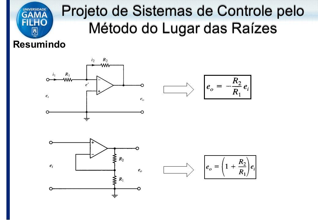 Projeto de Sistemas de Controle pelo Método do Lugar das Raízes Resumindo