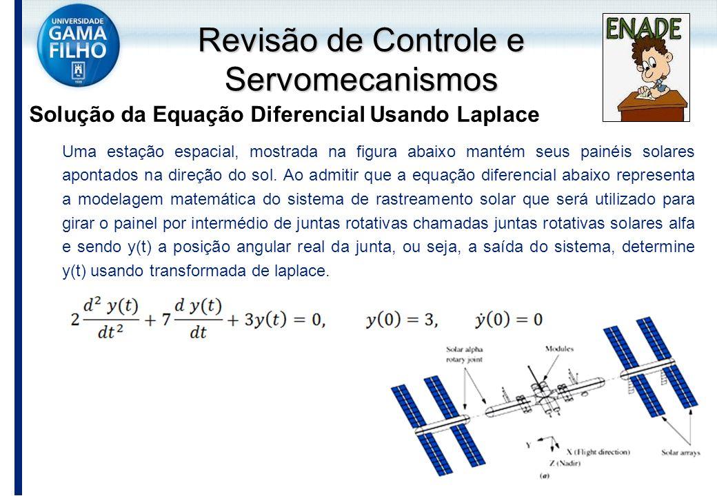 Solução da Equação Diferencial Usando Laplace Uma estação espacial, mostrada na figura abaixo mantém seus painéis solares apontados na direção do sol.
