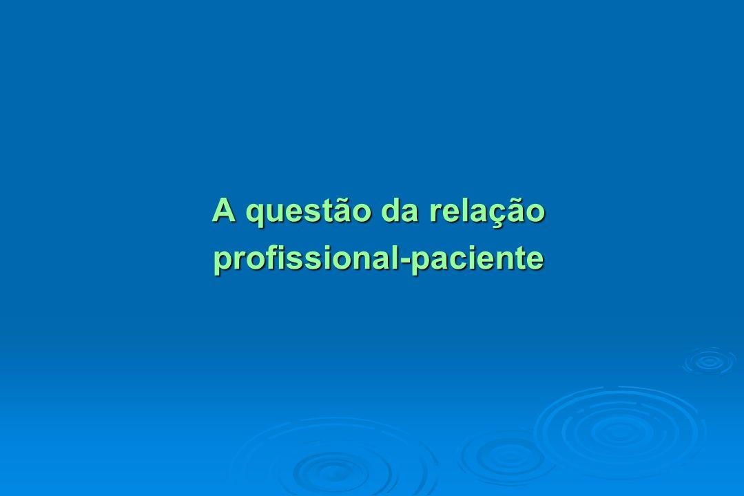 A questão da relação profissional-paciente