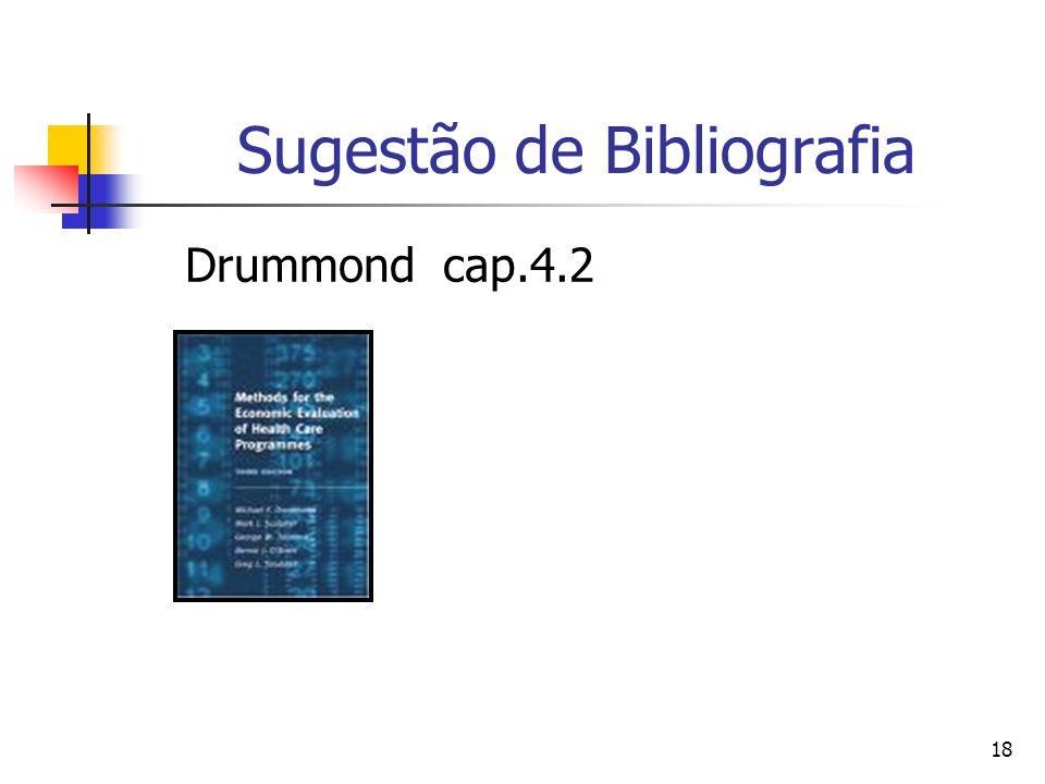 18 Sugestão de Bibliografia Drummond cap.4.2