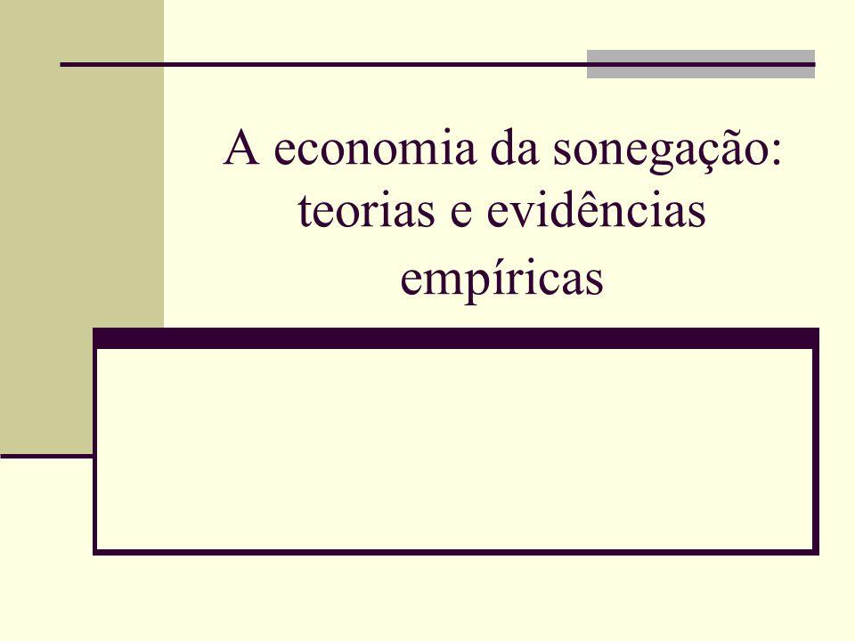 A economia da sonegação: teorias e evidências empíricas