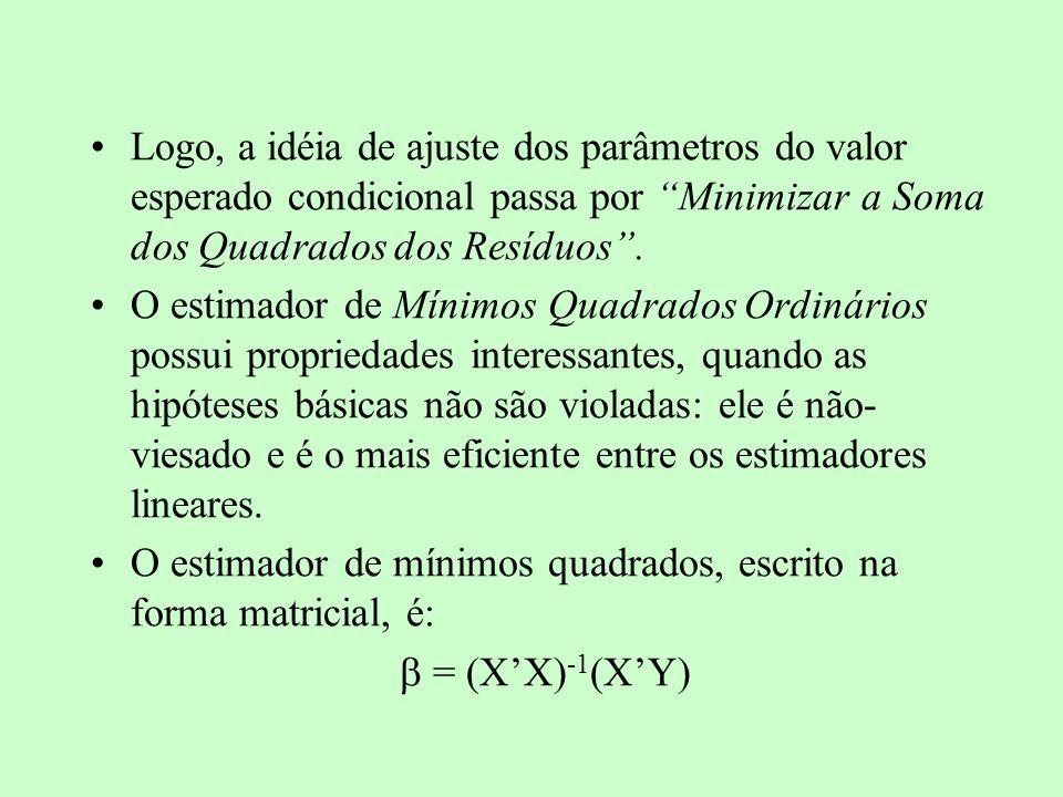 VIOLAÇÕES DAS HIPÓTESES - AUTOCORRELAÇÃO SERIAL Se E( i j ) 0, para i,j = 1, 2, 3...