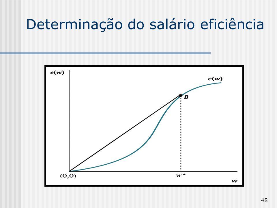 48 Determinação do salário eficiência