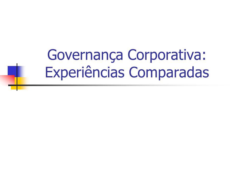 Governança Corporativa: Experiências Comparadas