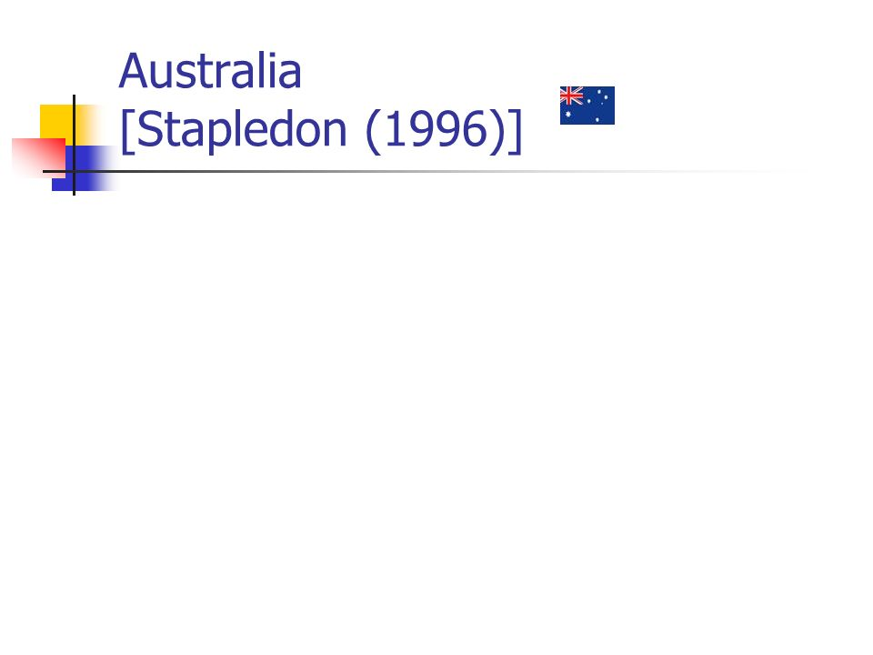 Australia [Stapledon (1996)]