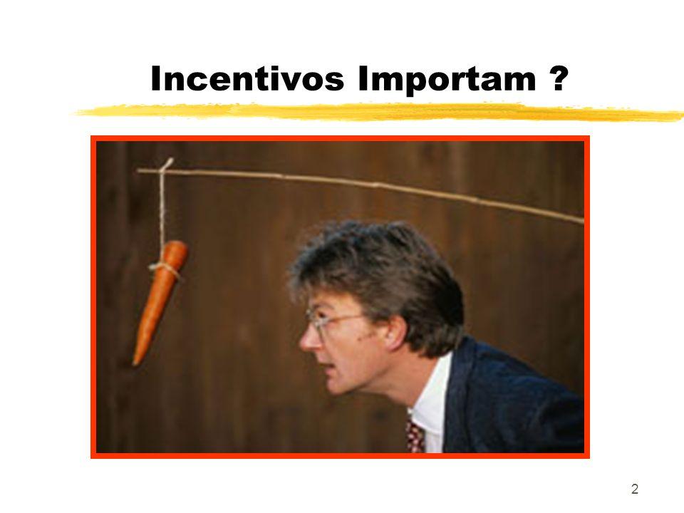 2 Incentivos Importam ?