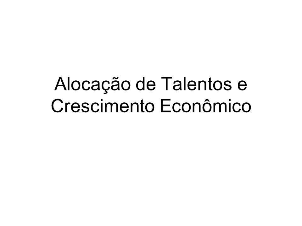 Alocação de Talentos e Crescimento Econômico
