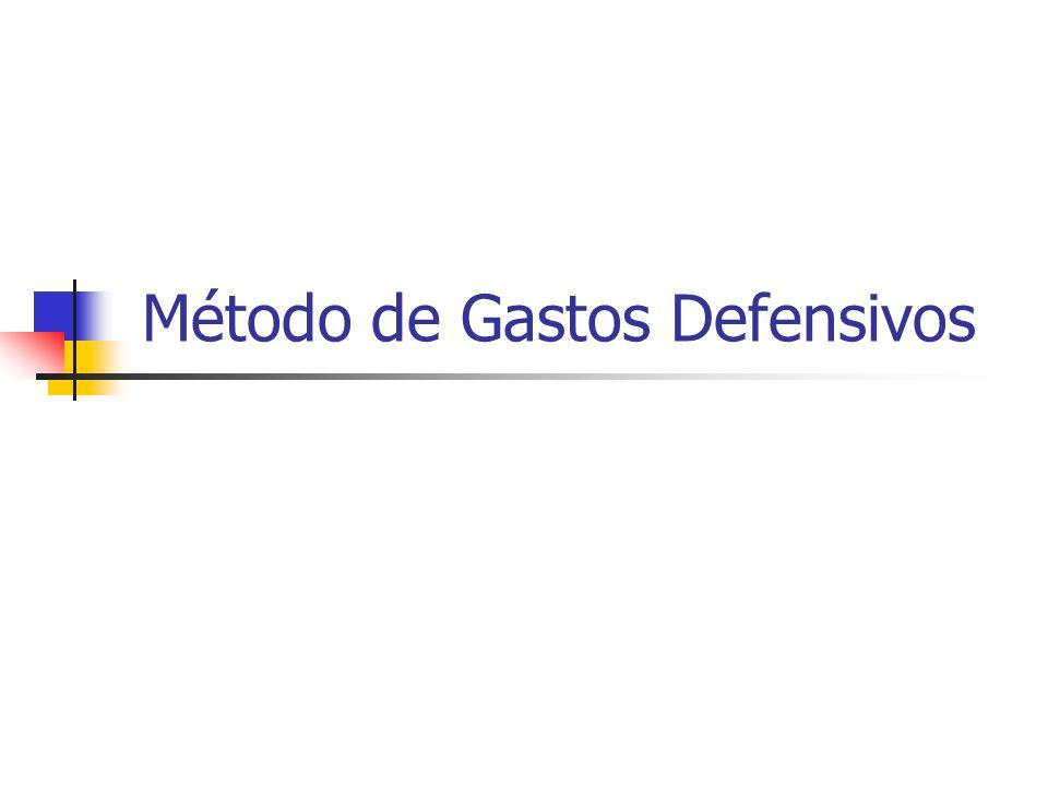 Método de Gastos Defensivos