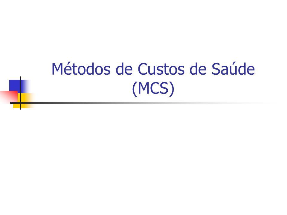 Métodos de Custos de Saúde (MCS)