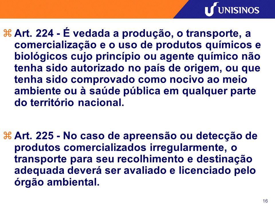 17 Tratamento e Disposição Final zNBR 10.004 – RESÍDUOS SÓLIDOS (1987); zNBR 12.235 – ARMAZENAMENTO DE RESÍDUOS SÓLIDOS PERIGOSOS (1992); zNBR 10.157 – ATERROS DE RESÍDUOS PERIGOSOS - CRITÉRIOS PARA PROJETO, CONSTRUÇÃO E OPERAÇÃO (1987); zNBR 13.896 – ATERROS DE RESÍDUOS NÃO PERIGOSOS – CRITÉRIOS PARA PROJETO, IMPLANTAÇÃO E OPERAÇÃO (1997).