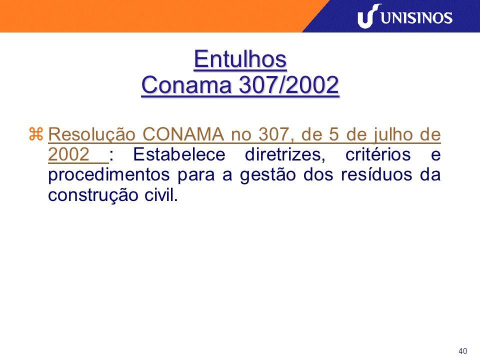 41 Entulhos Conama 307/2002 - Art.