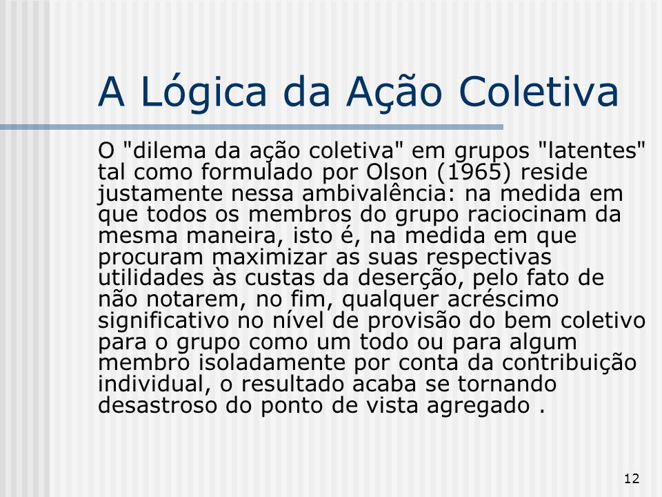 12 A Lógica da Ação Coletiva O