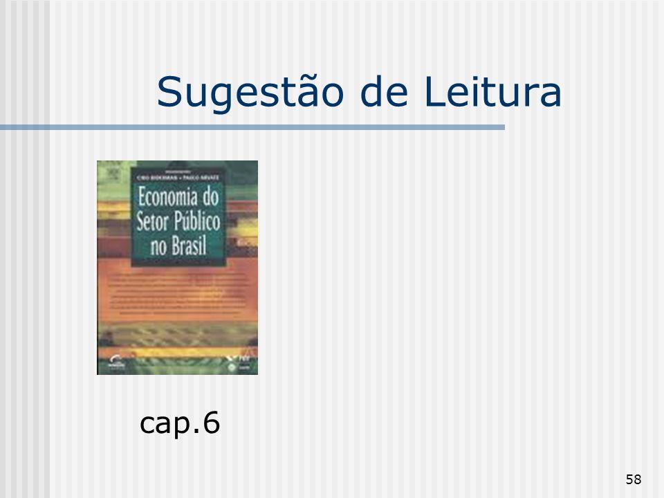58 Sugestão de Leitura cap.6