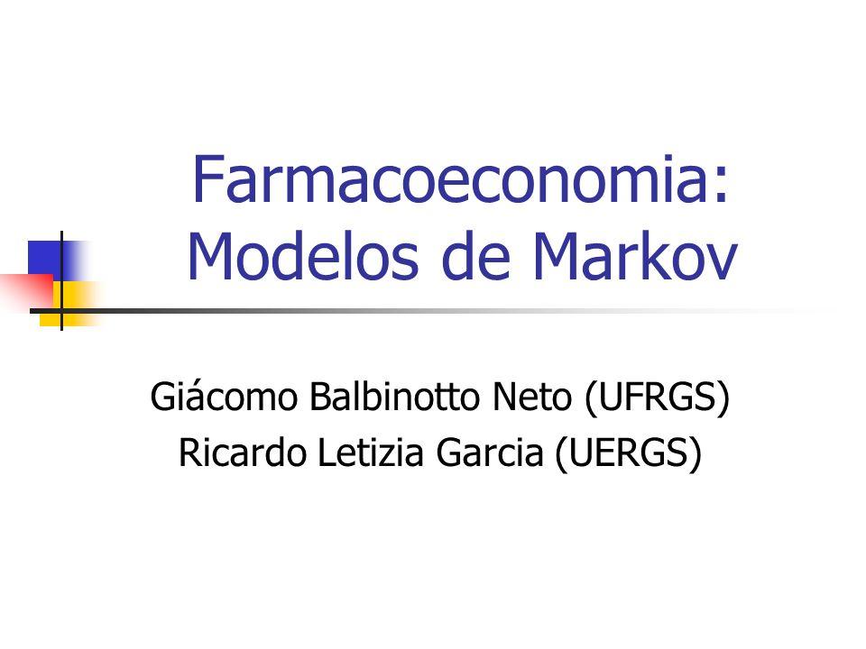 Giácomo Balbinotto Neto (UFRGS) Ricardo Letizia Garcia (UERGS) Farmacoeconomia: Modelos de Markov